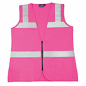 High Visibility Vest,Unrated,Pink,L