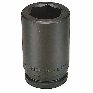 Impact Socket,1-1/2 In Dr,3-5/16 In,6 pt