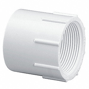 "PVC Female Adapter, Socket x FNPT, 1-1/2"" Pipe Size - Pipe Fitting"