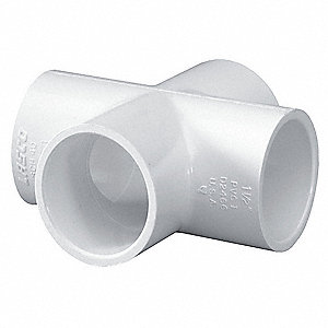 "PVC Cross, Socket x Socket x Socket x Socket, 1-1/2"" Pipe Size"