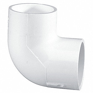 "PVC Elbow, 90°, Socket x Socket, 1/2"" Pipe Size - Pipe Fitting"