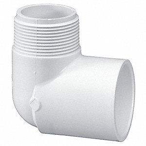 "PVC Street Elbow, 90°, MNPT x Socket, 1-1/2"" Pipe Size (Fittings)"