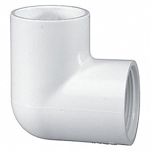"PVC Elbow, 90°, Socket x FNPT, 1/2"" Pipe Size - Pipe Fitting"