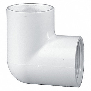 "PVC Elbow, 90°, Socket x FNPT, 3/4"" Pipe Size - Pipe Fitting"