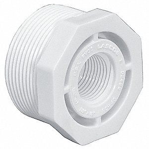 "PVC Reducing Bushing, MNPT x FNPT, 1/2"" x 3/8"" Pipe Size - Pipe Fitting"