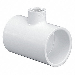 "PVC Reducer Tee, Socket x Socket x FNPT, 3"" x 3"" x 2"" Pipe Size (Fittings)"