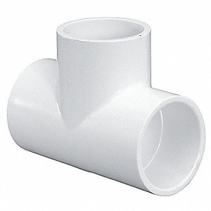 "PVC Tee, Socket x Socket x Socket, 5"" Pipe Size (Fittings)"