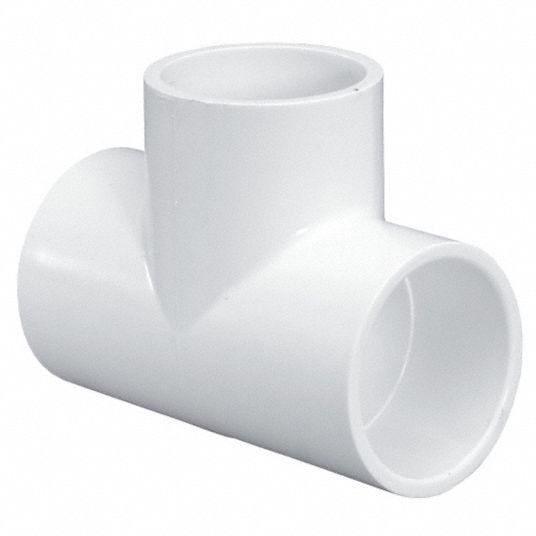 GRAINGER APPROVED PVC Tee, Socket x Socket x Socket, 1-1/2 in Pipe Size -  Pipe Fitting - 22FK93|401015 - Grainger