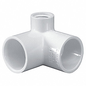"PVC Reducing Elbow, Socket x Socket x FNPT, 1"" x 1/2"" Pipe Size - Pipe Fitting"