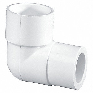 "PVC Reducing Elbow, Socket x Socket, 1"" x 1/2"" Pipe Size - Pipe Fitting"