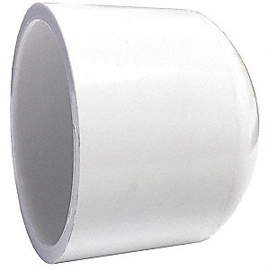 "PVC Cap, Socket, 8"" Pipe Size - Pipe Fitting"
