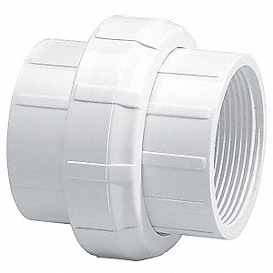 "PVC Union, FNPT x FNPT, 1-1/2"" Pipe Size (Fittings)"