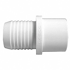 "PVC Adapter, Insert x Spigot, 1-1/2"" Pipe Size - Pipe Fitting"