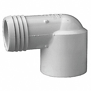 "PVC Elbow, 90°, Insert x Slip, 1-1/2"" Pipe Size - Pipe Fitting"