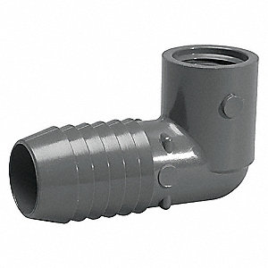 "PVC Reducing Elbow, 90°, Insert x FNPT, 1-1/4"" x 1"" Pipe Size - Pipe Fitting"