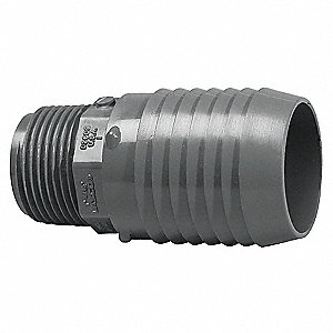 "PVC Reducing Male Adapter, MNPT x Insert, 1-1/4"" x 1-1/2"" Pipe Size - Pipe Fitting"