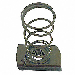 Channel Nut w/Spring, Electro Galvanized Steel