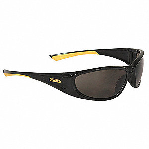 GABLE  Scratch-Resistant Safety Glasses, Smoke Lens Color