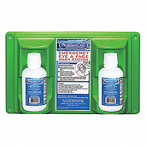 Eye Wash Station,2-16 oz. Bottles