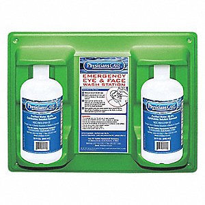 Eye Wash Station,2-32 oz. Bottles