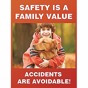 POSTER,SAFETY IS A FAMILY,18 X 24