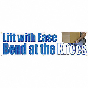 BANNER,LIFT WITH EASE,28 X 96
