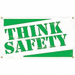 BANNER,THINK SAFETY,24 X 48