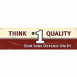 BANNER,THINK QUALITY,28 X 96