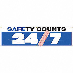 BANNER,SAFETY COUNTS,28 X 96