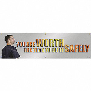 BANNER,YOU ARE WORTH THE,28 X 96