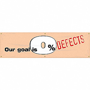 BANNER,OUR GOAL IS 0 DEF,28 X 96