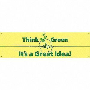 BANNER,THINK GREEN,28 X 96