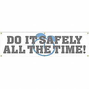 BANNER,DO IT SAFELY ALL,28 X 96