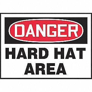 SIGN PAD,10X14,DGR HARD HAT,PK25