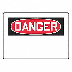 SIGN PAD,10X14,DANGER BLANK,PK25