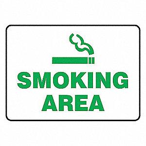 SIGN PAD,10X14,SMOKING AREA,PK25