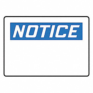 SIGN PAD,10X14,NOTICE BLANK,PK25