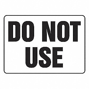 SIGN PAD,10X14,DO NOT USE,PK25