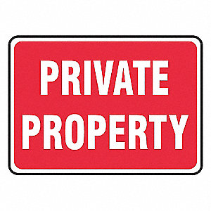 SIGN PAD,10X14,PRIVATE PROP,PK25