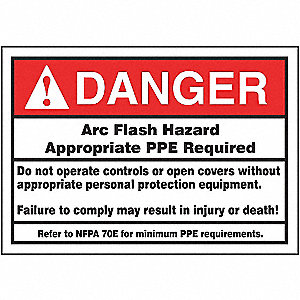 LABEL,3-1/2X5,DGR ARC FLASH HAZARD