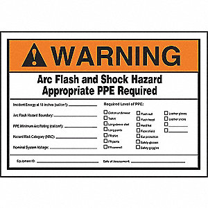 LABEL,5X7,WRN ARC FLASH AND