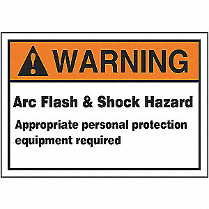 LABEL,3-1/2X5,WRN ARC FLASH AND