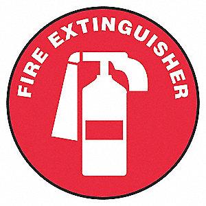 FLOOR SIGN,FIRE,17 DIA.