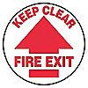 FLOOR SIGN,KEEP CLEAR,17 DIA.