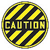 FLOOR SIGN,CAUTION,17 DIA.