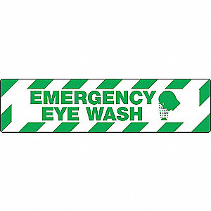 FLOOR SIGN,EMERGENCY,6 X 24