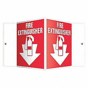 SIGN,FIRE EXTINGUISHER,6X8-1/2