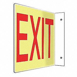 SIGN,EXIT,8X12,RED/WHITE