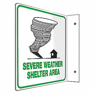 SIGN,SEVERE WEATHER SHELTER,8X8