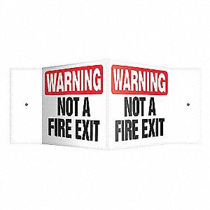 SIGN,WNG NOT A FIRE ESCAPE,8 X 18